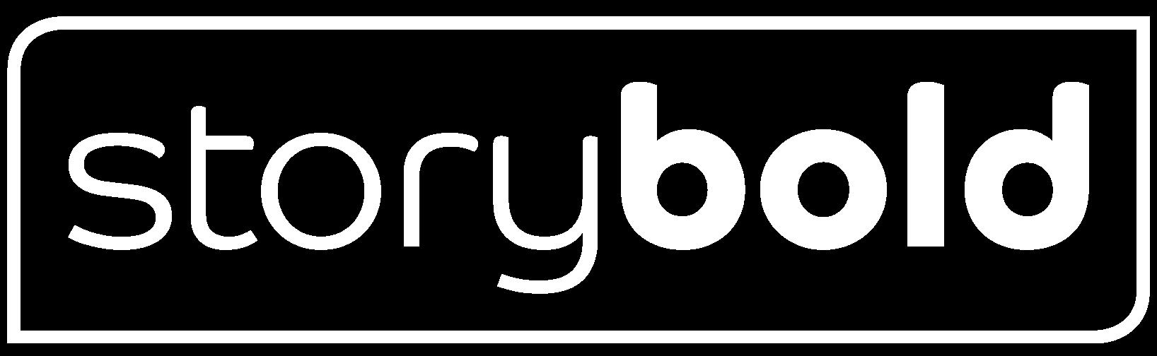 Storybold logo negativ